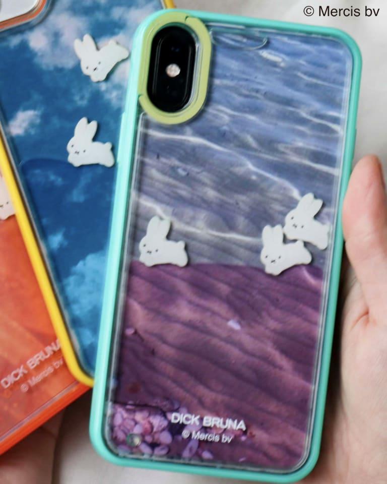 ぷかぷかうさぎiPhone case(グリーン)