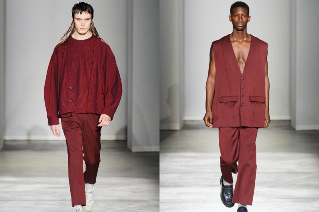 (左)松本さんが着用したジャケット、(右)櫻井さん着用のベスト