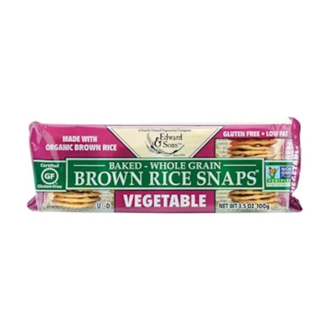 Edward & Sons, Baked Whole Grain Brown Rice Snaps Vegetable ¥344