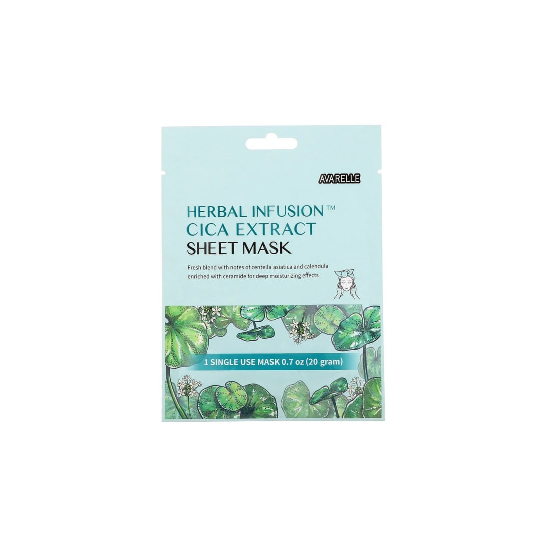 Avarelle Herbal Infusion Cica Extract Sheet Mask (1枚入)¥210