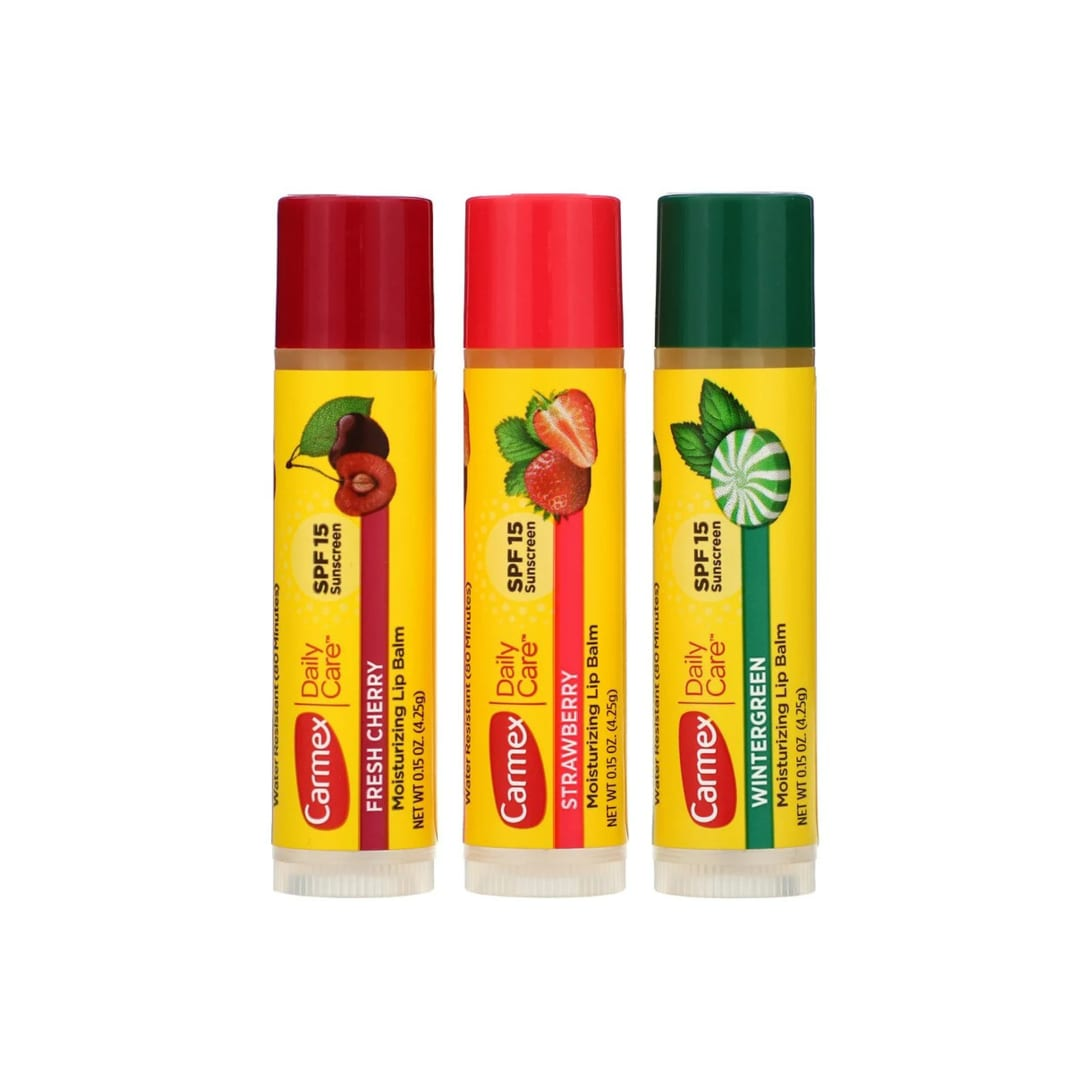 Carmex® Daily Care Moisturizing Lip Balm Variety SPF15(3本セット)¥557
