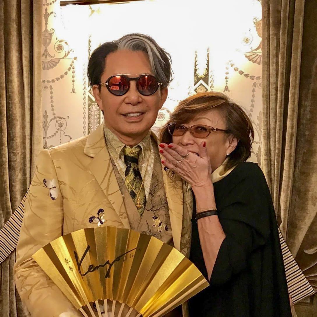 2019年2月、高田賢三80歳を祝うパーティーの舞台裏にて(筆者提供)