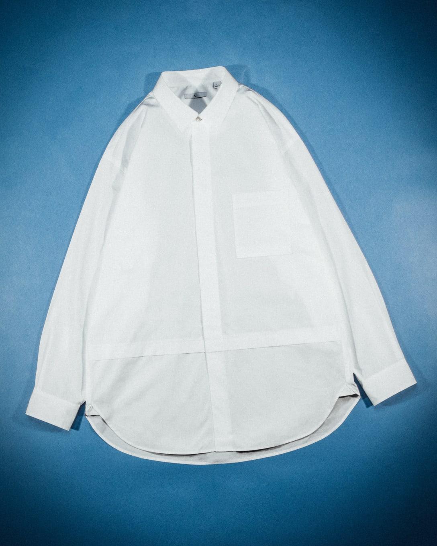 スーピマコットン オーバーサイズシャツ (長袖) ¥3,990(税別) Image by FASHIONSNAP.COM