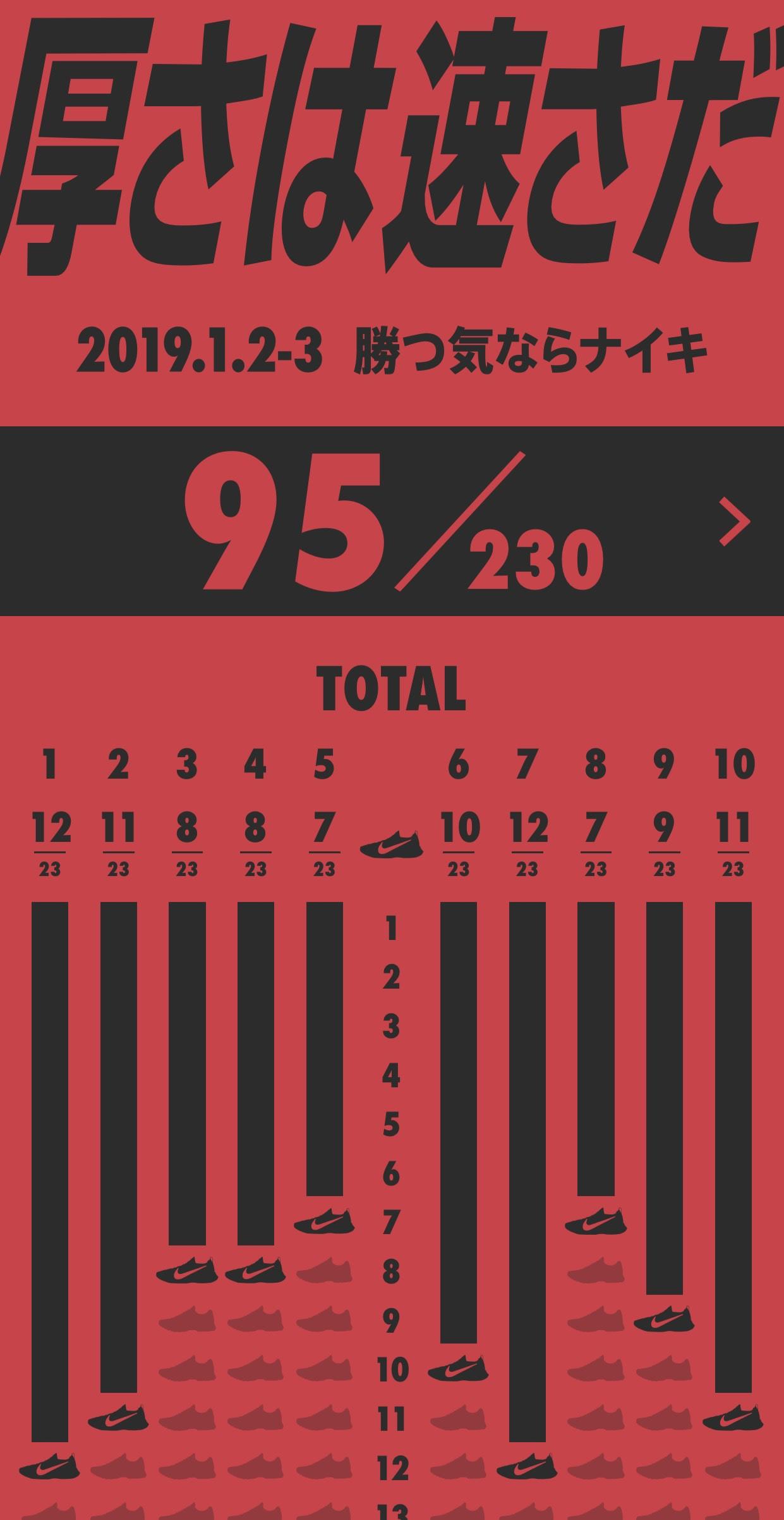 615ed1fa5dda5 1月2日と3日に開催された第95回箱根駅伝に出場した選手計230人のうち95人が「ナイキ(NIKE)」のシューズを履いていたことがわかった。そのうちのほとんどが