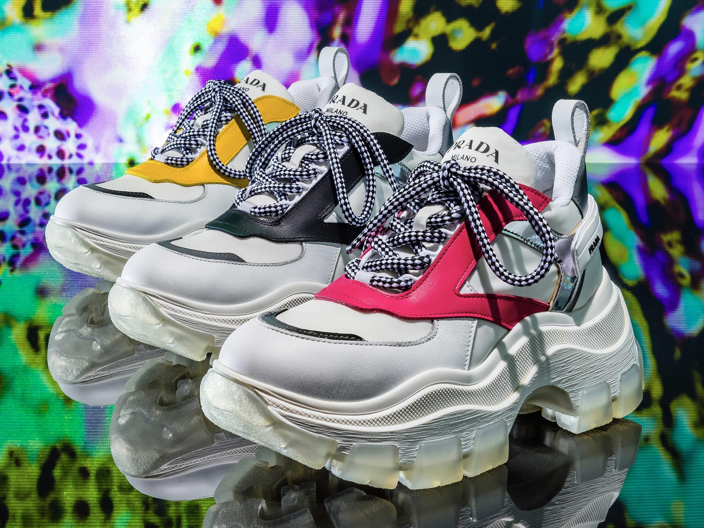 705390c3f244 「プラダ(PRADA)」が、トレッキングシューズに着想した新作シューズを世界に先駆けて販売するポップアップショップを、伊勢丹新宿店本館2階=婦人靴/プロモーション  ...