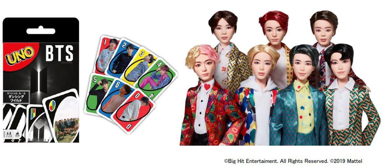 BTSのファッションドールとウノが登場、マテル社が今夏発売