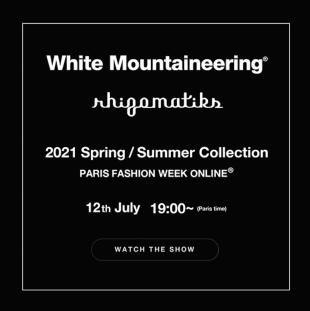 ホワイトマウンテニアリング 2021年春夏コレクションインビテーションより