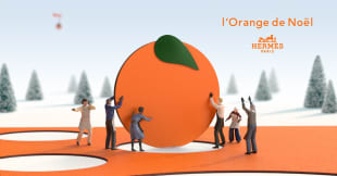 エルメスのオレンジクリスマス イメージヴィジュアル