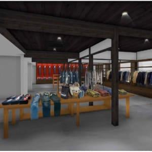 「藍食」を体験できるカフェ併設、桃太郎ジーンズの児島味野本店がリニューアルオープン